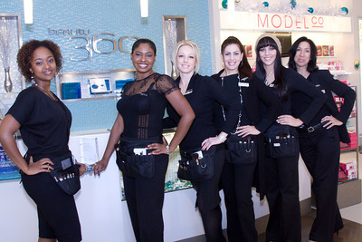 From left to right... Jihan Iman, Junior Counsultant LaDonne Cornelius, Senior Beauty Consultant & licensed aestetician Sarah Ray, Beauty Consultant Jennifer Murphy, Senior Beauty Consultant, licensed aesthetician Beth Davidson, Beauty consultant Maryann Kilgore, Store Manager & licensed cosmetologist