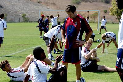 Aug 15, 2008. Chivas team practice and Coach Preki.