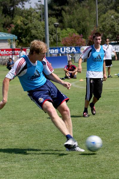Aug 15, 2008. Chivas team practice.