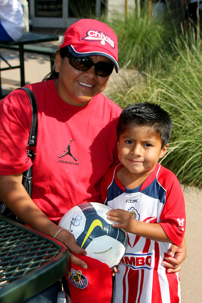 Aug 15, 2008. Adriana Ortiz with son Jonny (age 4), her other son Israel (age 8) attends soccer camp.