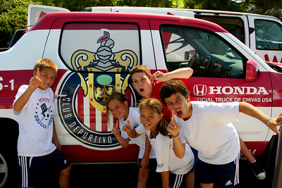 Aug 15, 2008. Camp kids with the official Chivas car.