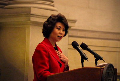 Secretary Elaine Chao at the National Archives Naturalization Ceremony 12-15-2010