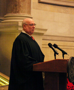 Judge Royce Lamberth at the National Archives Naturalization Ceremony 12-15-2010 on the Bill of Rights Day