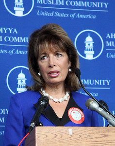Rep. Jackie Speier at the Muslim for Life Blood Drive