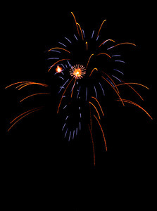 Fireworks at the Edmond, Oklhahoma Libertyfest 2008
