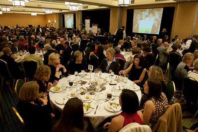 Hundreds of people attend the fourth annual Archbishop's Banquet for Catholic Education at the Marriott Perimeter Center, Feb. 5.
