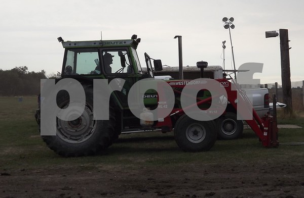 Tractor there to help with accidents.
