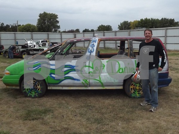 Matt Schwering with his van before the race.