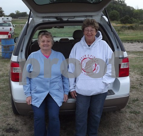 Jennie Anderson and Marlin Hanson, members of the fair-board.