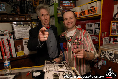 Edward Colver and Jean Luc - Edward Colver - Blight at The End of The Funnel book signing at Headline Records - Hollywood, CA - February 24, 2007