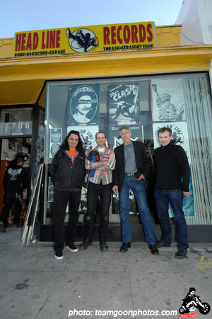Steven Blush, Jean Luc, Edward Colver, Paul Rachman - Edward Colver - Blight at The End of The Funnel book signing at Headline Records - Hollywood, CA - February 24, 2007
