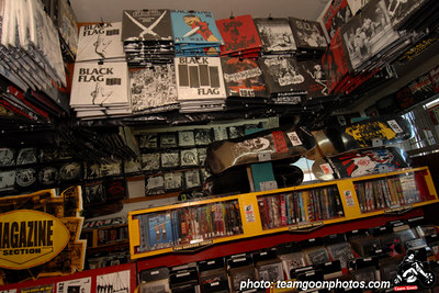Lots of shirts - Edward Colver - Blight at The End of The Funnel book signing at Headline Records - Hollywood, CA - February 24, 2007