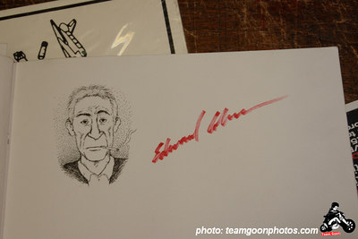 Portrait of Edward Colver that was drawn by artist Emanual -  - Edward Colver - Blight at The End of The Funnel book signing at Headline Records - Hollywood, CA - February 24, 2007