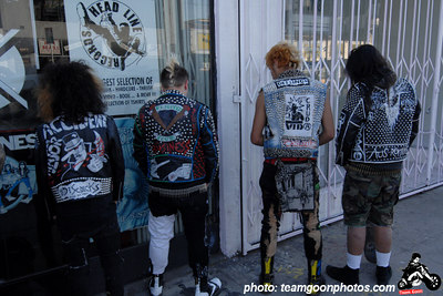 Jacket backs - Edward Colver - Blight at The End of The Funnel book signing at Headline Records - Hollywood, CA - February 24, 2007