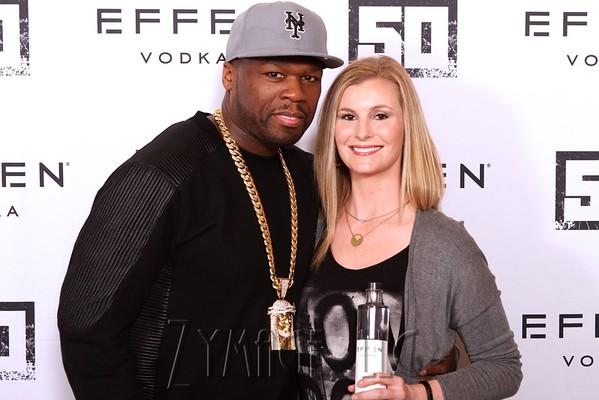 Effen Vodka Presents 50 Cent at Liquor Barn on March 6, 2016