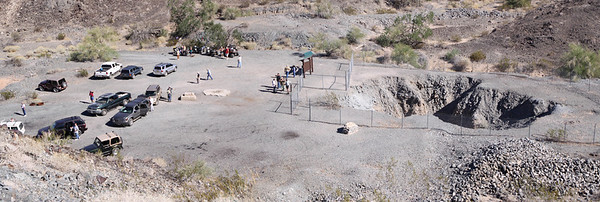Pano stitched from two exposures at the mine