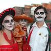 Rachel, Rainer and Matt Vallowe Rachel Vallowe celebrate at Petaluma's El Día de los Muertos, held on October 28, 2012.