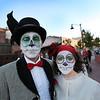 Tamara and Brian Lemesh along with their children (not picturerd) are enjoying celebrating Petaluma's El Día de los Muertos, held on October 28, 2012.