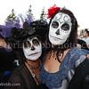 Mother and daughter Rachel Coston and Renee McKenna are faces in the crowd at Petaluma's El Día de los Muertos, held on October 28, 2012.