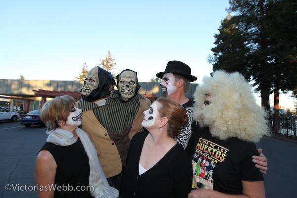 Faces in the crowd at Petaluma's El Día de los Muertos, held on October 28, 2012.