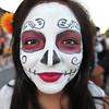 Stephanie Ortiz from the Windsor Bloco drum and dance after school program will be performing at Petaluma's El Día de los Muertos, held on October 28, 2012.