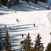 Friday, November 20, 2009, was opening day at the Eldora Mountain Resort. The run that was open was full of skiers.<br /> Cliff Grassmick / November 20, 2009