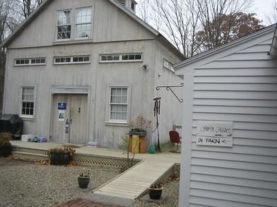 Obama canvas in Barn, Walpole, N.H.