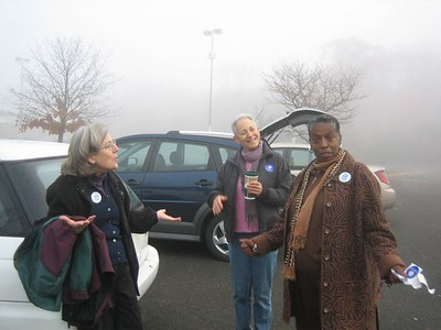 Volunteers in the Holyoke for Obama campaign, ready to ride van to N.H. to help on Election Day.