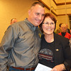 Diane Raver | The Herald-Tribune<br /> Jeff Cumberworth and Ripley County Republican Party chair Ginger Bradford are all smiles after he is elected sheriff.