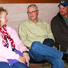 Debbie Blank | The Herald-Tribune<br /> At the Brookville courthouse, Franklin County Republican contenders Eric Roberts (from right) and Keith Hall wait out final totals with Hall's wife, Linda.