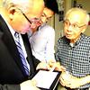 Assemblymember Paul Fong (D-Cupertino) checks poll results at Santa Clara County Democratic Party headquarters. Photo by Matt Crawford