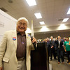 U.S. Congressman Mike Honda hams it up for the crowd by getting the DJ to play him a victory song. Photo by Jessica Shirley-Donnelly