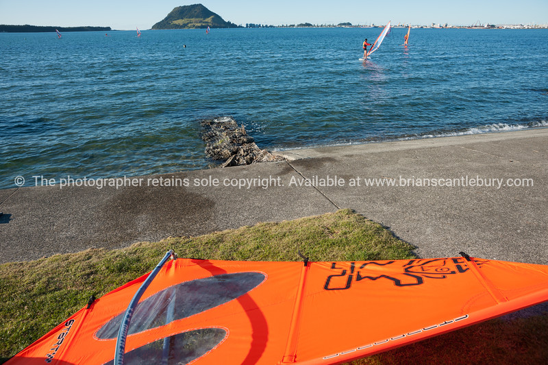 """Windsurfing, Elements Watersports. <br /> Model Release; No, editorial or personal use only.<br />  Windsurfing lessons Also see; <a href=""""http://www.blurb.com/b/3811392-tauranga"""">http://www.blurb.com/b/3811392-tauranga</a> Also see; <a href=""""http://www.blurb.com/b/3811392-tauranga"""">http://www.blurb.com/b/3811392-tauranga</a> Tauranga photographer,Tauranga photos, photos of Tauranga"""