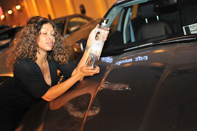 Download FREE pictures from this high quality photo gallery of  mixer with Gaudin's Jaguar Exotic Cars at Eleven Spa Vegas located in Town Center. Martinis, cocktails and shots provided by iSVodka is vodka.