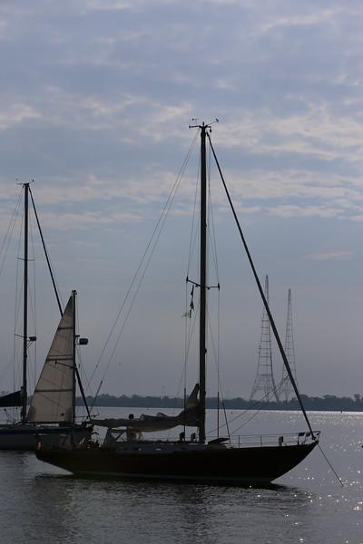 2015-05-16 Elf Classic Yacht Race, the start at Eastport Yacht Club
