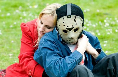 Voor de filmliefhebbers is dit een absurde foto. De 'seriemoordenaar' Jason uit Friday the 13th met zijn geliefde..???? Voor mij een mooi moment om vast te leggen!