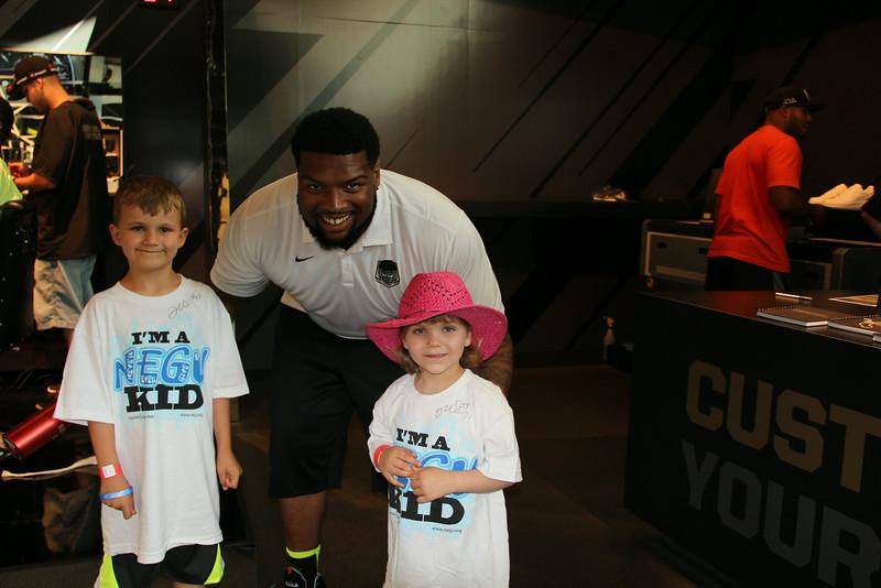 Washington Redskins Player with Sapphire & Jayden