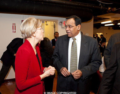 Dec. 12, 2011. Boston, MA. Commonwealth Seminar Year End Gathering at SEIU Local 615. elizabeth Warren and Jarrett Barrios were the speakers. © 2011 Marilyn Humphries