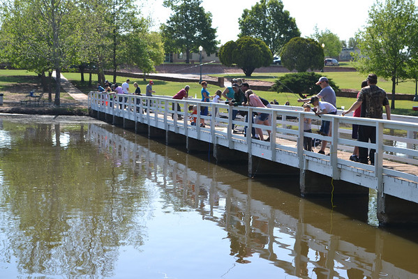 The footbridge was a popular destination for fishers at Shannon Springs.