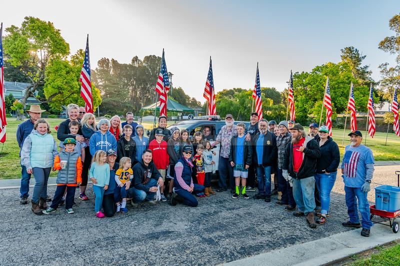 Santa Cruz Elks 824 - Avenue of Flags, Memorial Day 2018