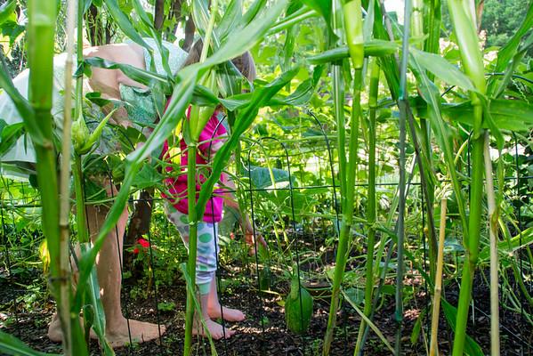 Ellen in the garden