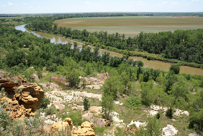 View off White Bluffs area above Smoky Hill River