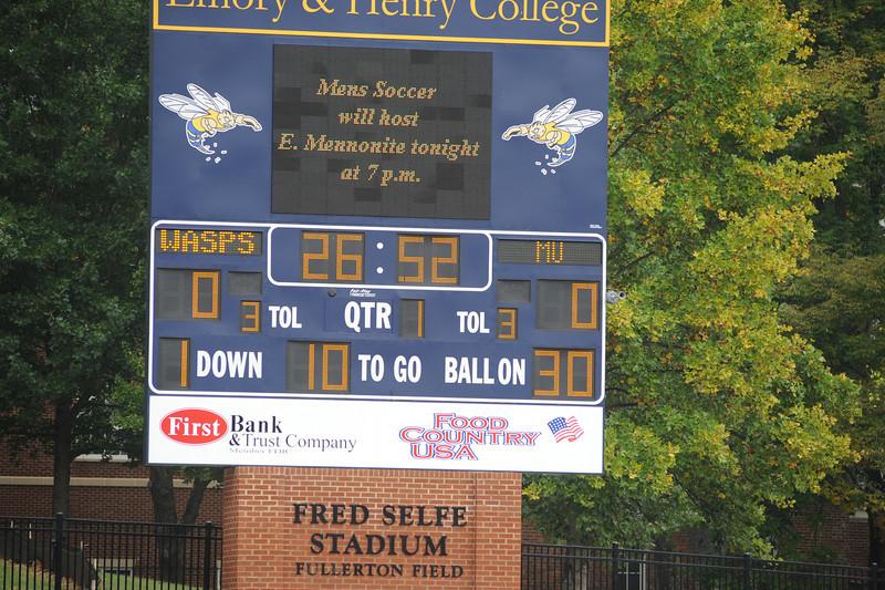 E&H vs. MethodistFootball 2010