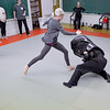 Ashleigh Fox | The Sheridan Press<br /> Kara Bateson attacks an Empower Wyoming instructor during the women's self defense class Dec. 27, 2017. Empower instructor Stormy Broad provided tips for participants during the drills.