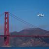 Endeavor flies through the Golden Gate