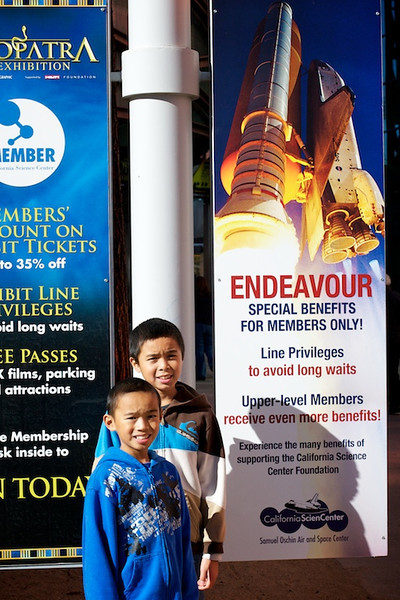 Dec. 28, 2012: California Science Center @ Exposition Park to visit the Space Shuttle Endeavour