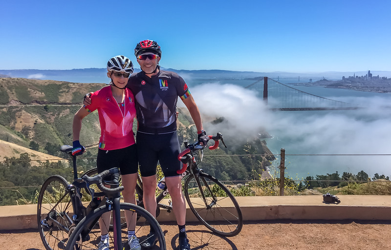 Top of the Marin Headlands climb
