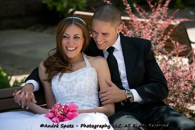 """Wedding Models Rania and Jeff at the """"Natural Light"""" photo shoot."""