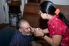 Vini putting 'kankoo tika' on Sanjay