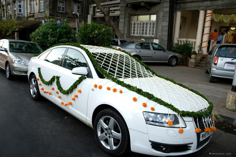 Audi waiting for the bridegroom.